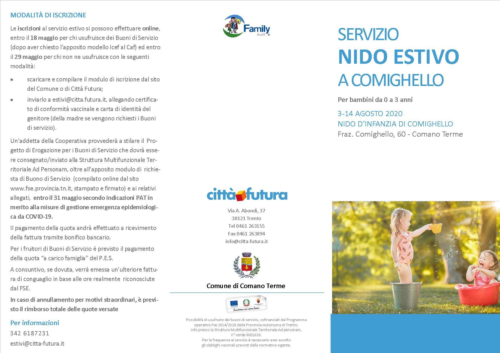 Pieghevole Nido Comighello_2020 Vale fronte