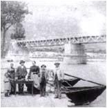 Ponte di ferro sul fiume Adige, 1896