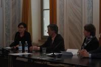 Da sinistra Elisa Trenti, Maurizio Tomazzoni e Teresa Untersteiner