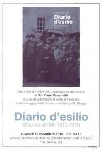 Diario desilio. Borgo Sacco. Locandina